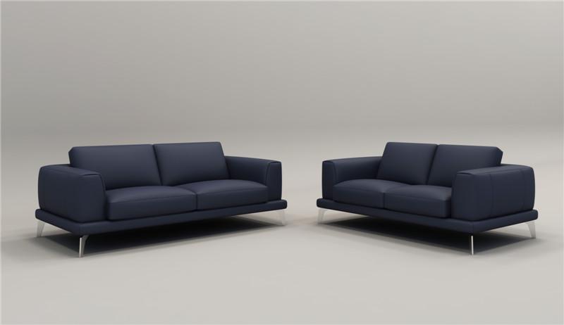 Design Moderno Sofá De Couro Para Sala De Estar Sofá 1 + 2 + 3 Com Sofás De  Couro Italiano Topo