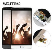 Srjtek部品lg g3ミニ液晶ディスプレイでフレームデジタイザ交換lg g3 s液晶画面g3s d722 d724タッチスクリーンlcd