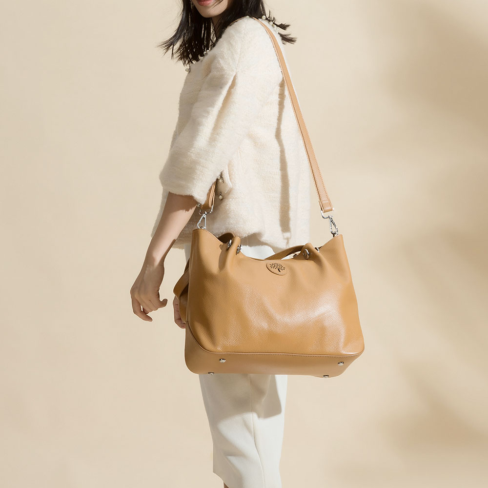 Zency gran capacidad bolso de hombro de mujer 100% bolso de cuero genuino Simple de moda señora bandolera bolso de mano negro-in Cubos from Maletas y bolsas    2