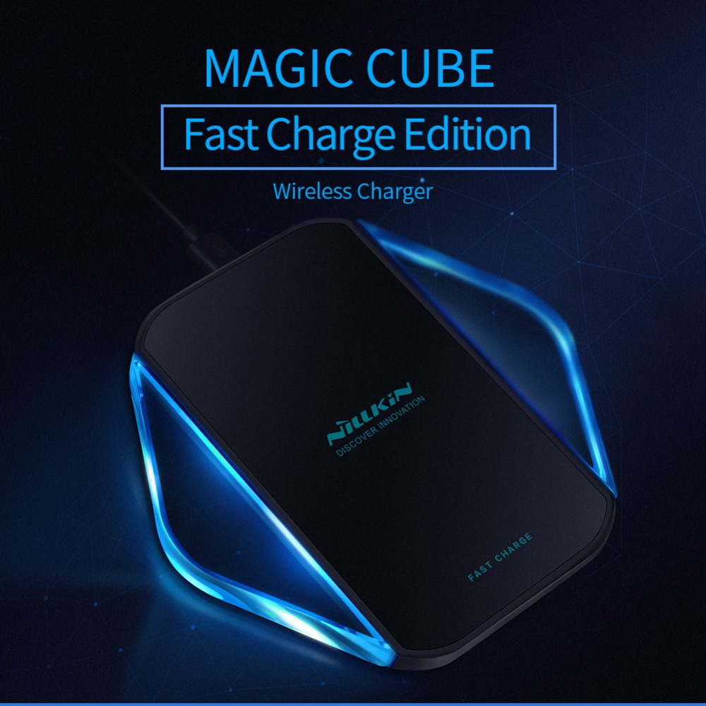 NILLKIN Magic Cube Fast Edition qi wireless charger For Samsung Galaxy S9 S8 Plus Note 8 iphone X 8 Hight Coversion rate 80%