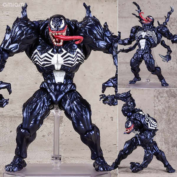 FIGMA Série N ° 003 Revoltech 002 Spiderman Venom No.1 No.2 001 Deadpool Com Suporte de PVC Action Figure Toy Model Collection 15 centímetros