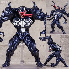 FIGMA Series NO.003 Revoltech Venom No.002 Spiderman No.001 Deadpool With Bracke