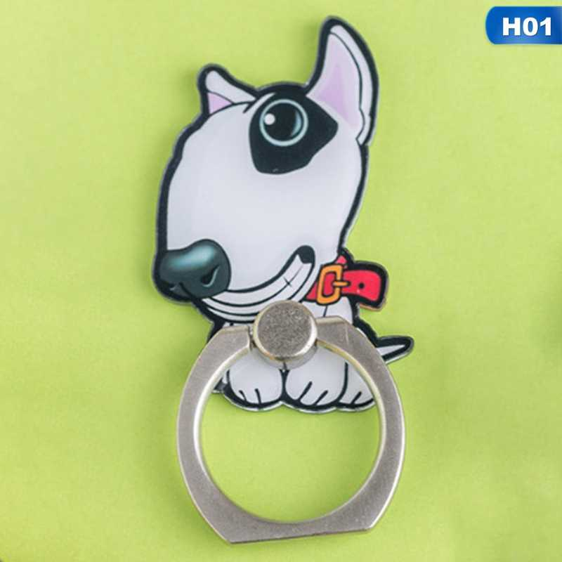 For Xiaomi Huawei All PhoneUVR Bulldog Husky Animal Cat Mobile Phone Stand Holder Finger Ring Smartphone Cute Cat Holder Stand
