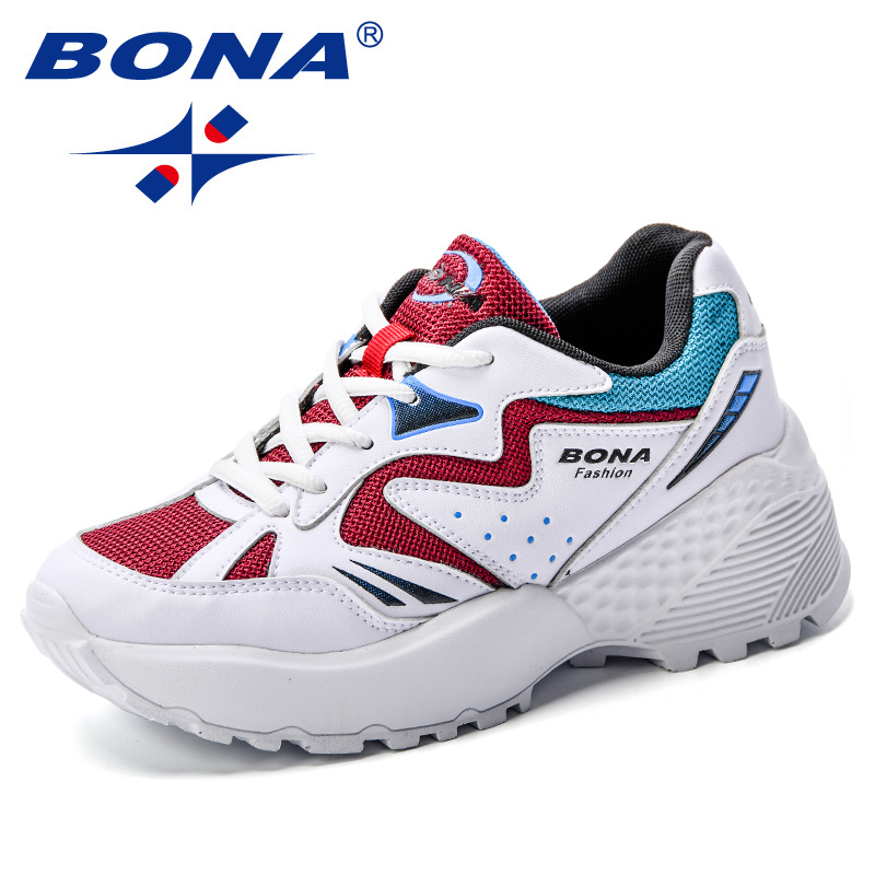 BONA New Autumn Fashion Krasovki Women Casual Shoes Microfiber Mesh Platform Shoes Women Sneakers Lady Trainers Chaussure Femme royyna new cute design women sneakers shoes flower femme casual shoes mesh lady flats outdoor chaussure femme zapatos mujer