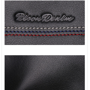 Image 5 - BISON DENIM Male Clutch Genuine Leather Mens Wallet Long Wallet Brand Cowskin Card Holder Coin Purse Men Business Wallet N8069