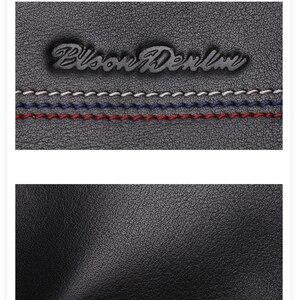 Image 5 - BISON DENIM męska kopertówka prawdziwy męski portfel ze skóry długi portfel marki Cowskin posiadacz karty monety kiesy mężczyzn portfel biznesowy N8069