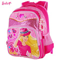 Barbie orthopedic primary cartoon school bags backpack for girls portfolio children/kids  book/student  bags hard back grade 1-3