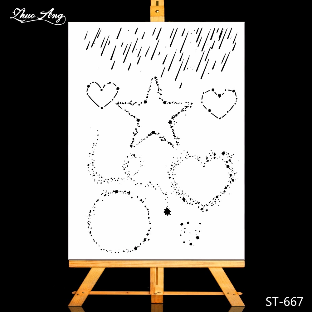 ZhuoAng Meteor shower Transparent Clear Stamp Seal for Scrapbooking Photo Album Diary Card Making DIY Decoration Supply