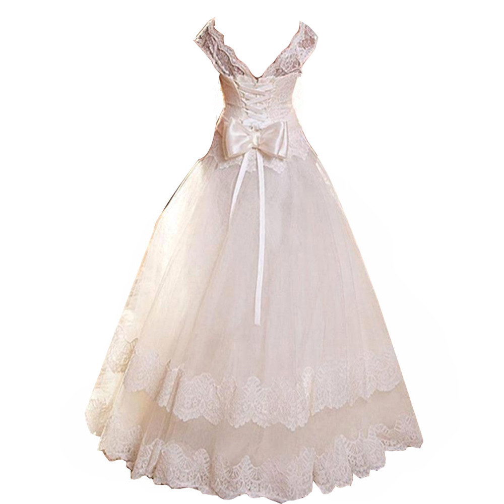2016 ivory lace flower girl dress for weddings first for Wedding girl dress up