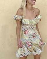 Для Женщин Halterneck галстук Рубашка с короткими рукавами Melody с открытыми плечами платье накладки оборками Лен Хлопковое платье