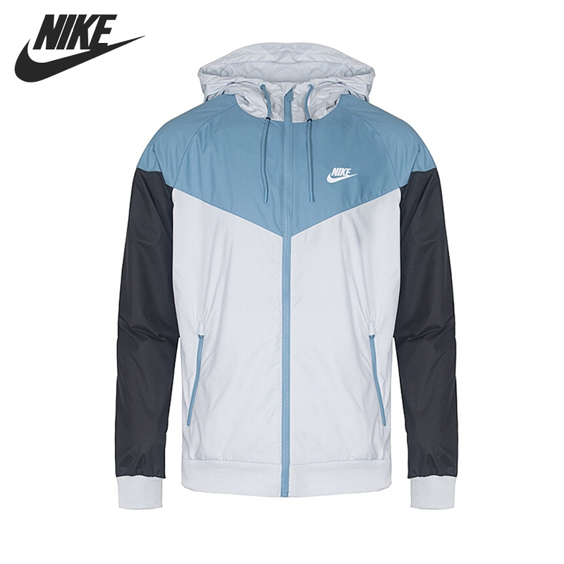 Original New Arrival 2018 NIKE Men's Woven Jacket Hooded Sportswear original nike men s black knitted jacket hooded sportswear