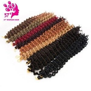 Dream ice's 5pcs Deep Wave Pre-loop Synthetic Crochet Braid Hair Twists Braiding Hair Extension 20inch 80G(China)