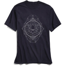 Lotus Of Life T-shirt Men Sacred Geometry T Shirt 2018 New Gift Tees Crew Neck Pure Cotton Tshirt Short Sleeve Tops Fashion цена и фото