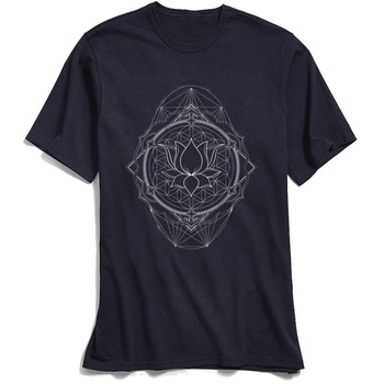 Lotus Of Life T-shirt Men Sacred Geometry T Shirt 2018 New Gift Tees Crew Neck Pure Cotton Tshirt Short Sleeve Tops Fashion