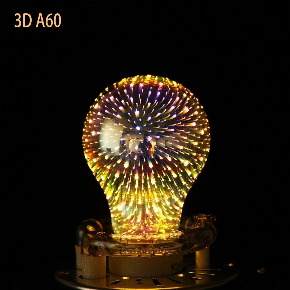 1pc Indoor Festival E27 3D Firworks Meteor Decoration Led Bulb Holiday Novelty Lights