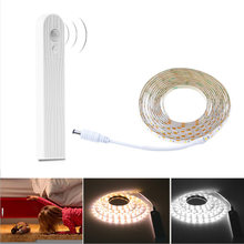 1M 2M 3M Wireless Motion Sensor LED Strip Battery Power Night light Under Bed lamp For Closet Wardrobe Cabinet Stairs Hallway(China)