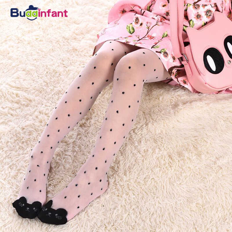 Cute cat girl tights children's sheer 15D stockings for girls kids baby pantyhose cartoon characters thin tight 2019 summer 1-9Y