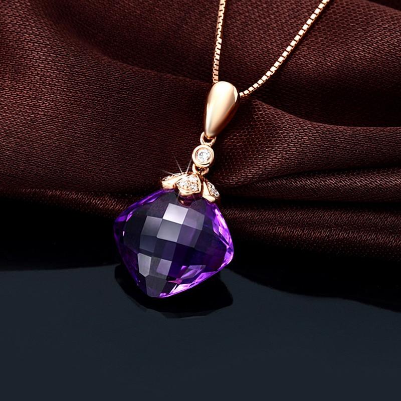 CaiMao զարդեր 12x12 մմ 7.56ct բարձի ամեթիստ / - Նուրբ զարդեր - Լուսանկար 2