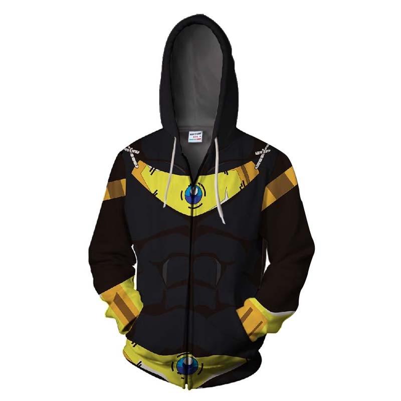 2018 New jiren Zip Hooded Naruto&dragon ball z&goku Zipper Hoodies Sweatshirt 3d Printed Men's Hoodies Avengers hip hop tops