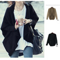 Autumn and Winter Fashion Loose Batwing Korean Casual Long Sleeve Knitted Wool Sweater Cardigan/Poncho/Shrug For Women Or Lady