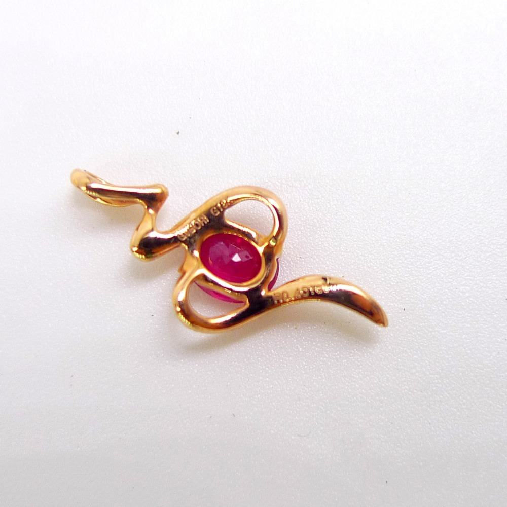 Real Gold Mark 18k Jewelry Ruby