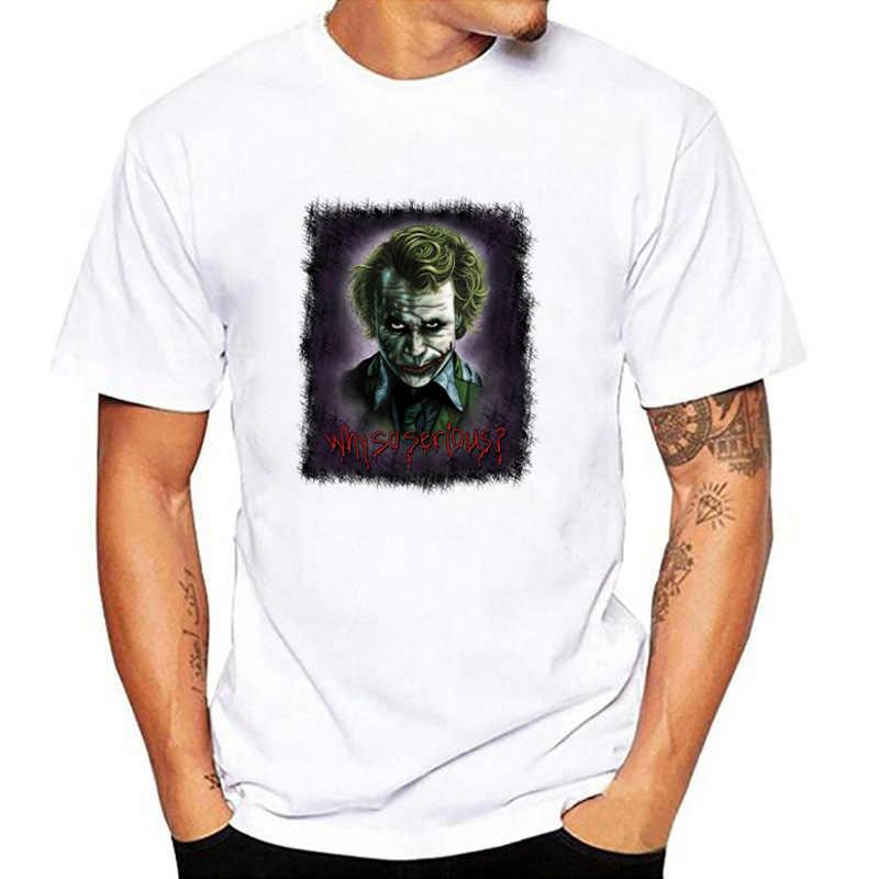 Poleras hombre 2019 Прохладный Бэтмен Джокер Взрослый хлопок Винтажная футболка мужская с круглым вырезом короткий рукав Мужская s футболка мужские футболки homme