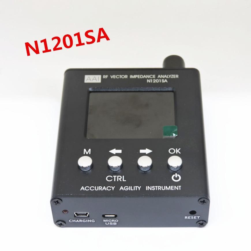 English verison N1201SA 140MHz 2 7GHz UV RF Vector Impedance ANT SWR Antenna Analyzer Meter Tester
