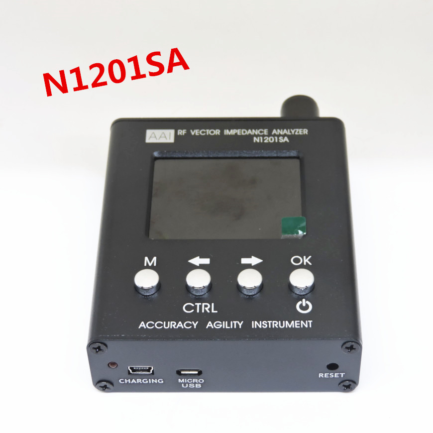 English verison N1201SA 140MHz-2.7GHz UV RF Vector Impedance ANT SWR Antenna Analyzer Meter Tester 140MHz - 2.7GHz