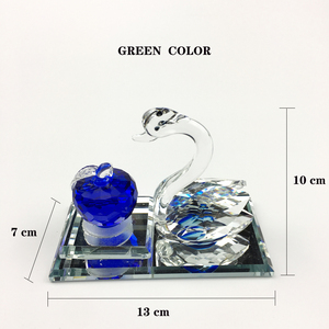 Image 4 - Creative home car ornaments car decoration perfume seat swan apple perfume decorations Crystal material best gift for people