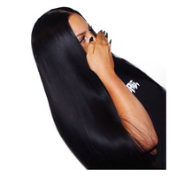 250% Density Lace Front Human Hair Wigs For Women Black Silky Straight Brazilian Lace Wig Pre Plucked Honey Queen Remy