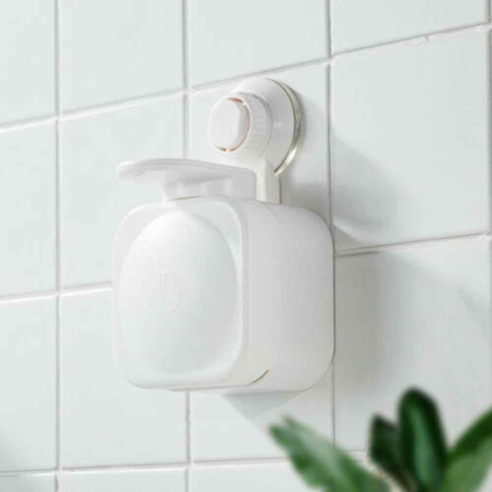 Suction Cup Liquid Shampoo Dispenser ABS Durable Simple Bathroom Kitchen Office  School Hospital and Hotel No trace 5pz