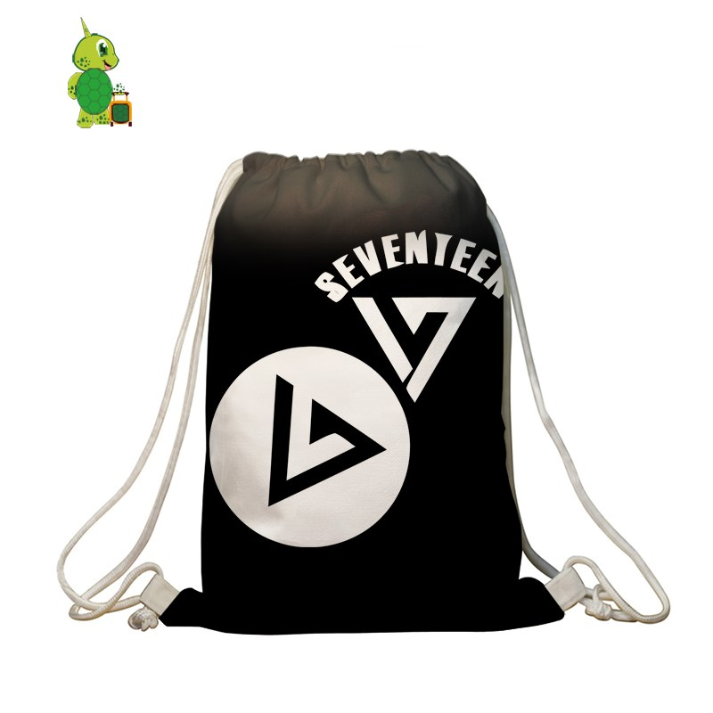 Seventeen Hip Hop Drawstring Bag Boys Girls Fans Daily Backpack Children School Storage Bags Women Men Softback Travel Bags Aesthetic Appearance Men's Bags Luggage & Bags