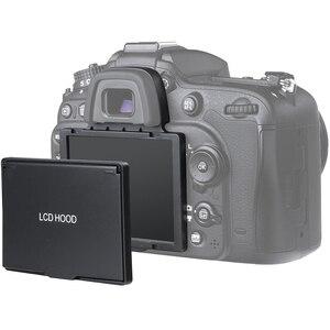 Image 3 - 2in1 LCD ekran koruyucu Pop up Sun Shade Hood kapak için Nikon D7100 D7200