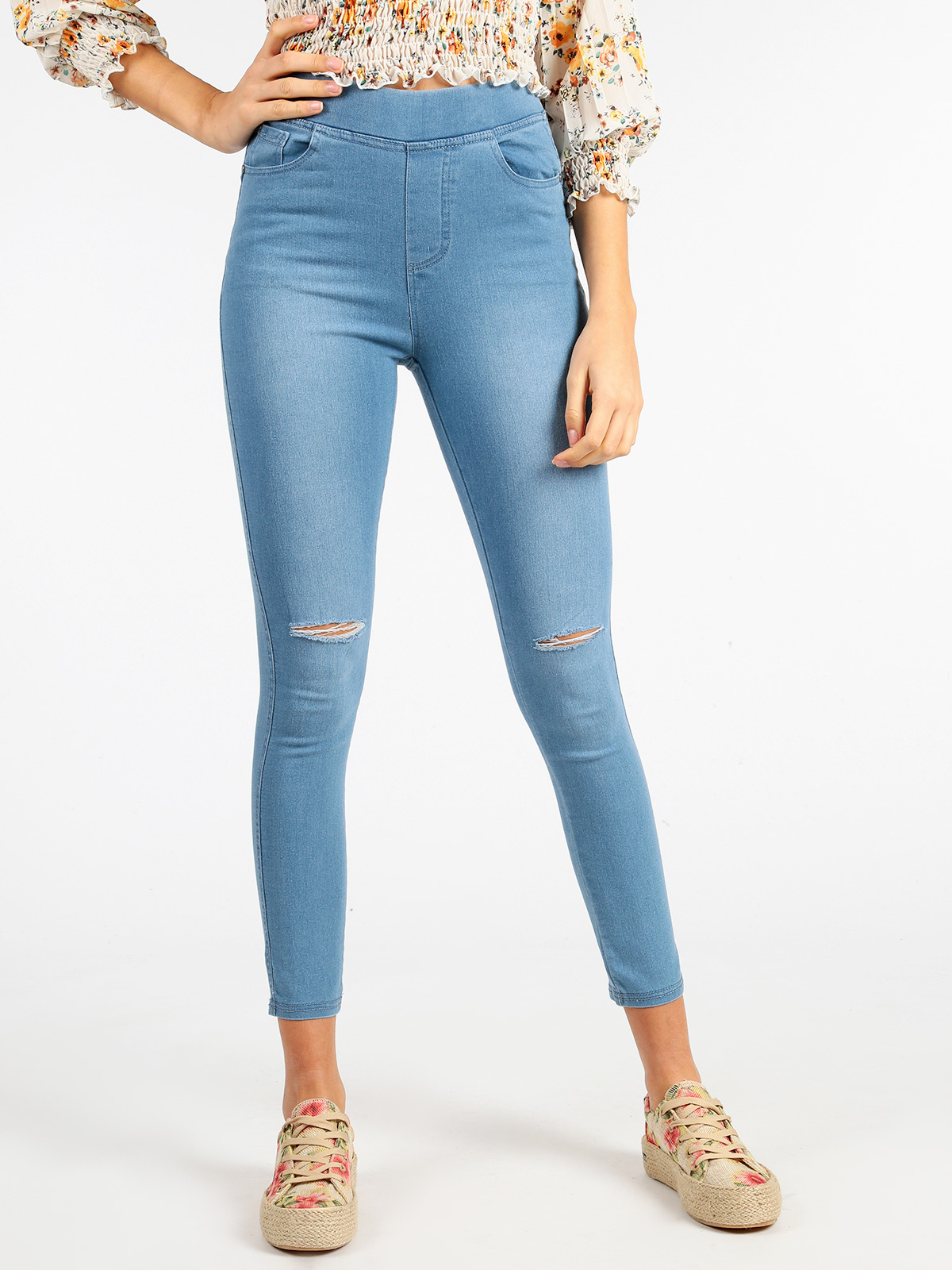 SOLADA Jeggings High Waist Torn Jeans