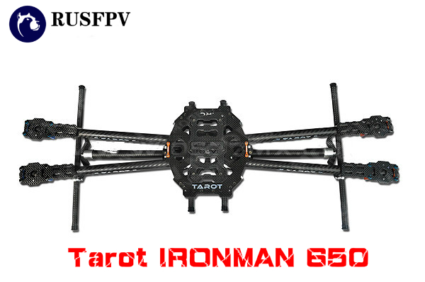 Tarot IRONMAN 650 TL65B01 Rack 4-Axis Full Folding 3K Pure Carbon Fiber Quadcopter Multirotor Frame hj x330 black glass fiber 4 axis frame multiaxial rack 4 axis aircraft compatible for kk mwc red
