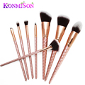 Konmison Diamond Makeup Brushes Set Rose Gold Unicorn Blending Make up Brushes Cosmetic  Foundation Eye shadow Blusher Powder