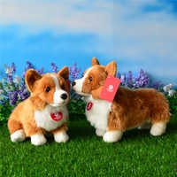 23CM Welsh Corgi Pembroke Plush Toys With Standing Version Cute Puppy Stuffed Toy For Kids Free Shipping