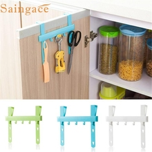 Kitchen storage racks organizer Door Cabinet hanging Storage Hooks Rack Bathroom kitchen towel hanging Holder