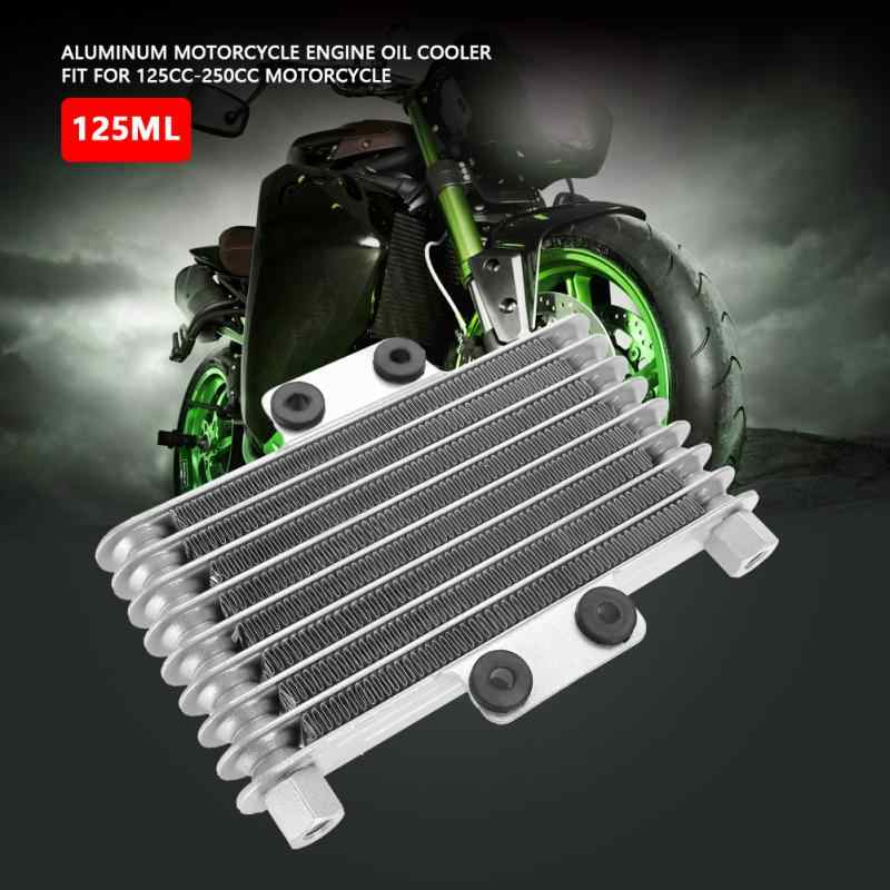 High Quality Aluminum 125ml Engine Oil Cooler Cooling Radiator for  125CC-250CC Motorcycle Dirt Bike ATV 2 Colors Hot Sale