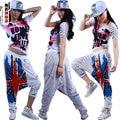 New Fashion Brand Jazz harem women hip hop pants  loose Doodle Sweatpants Costumes women female M word Print DS trousers