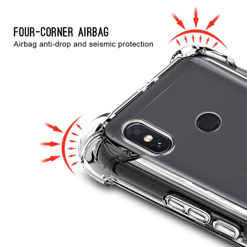 Capa de telefone para xiaomi redmi 6a 4x 5plus s2 caso tpu cristal airbag caso para xiaomi redmi nota 7/5/6 7 pro versão global caso