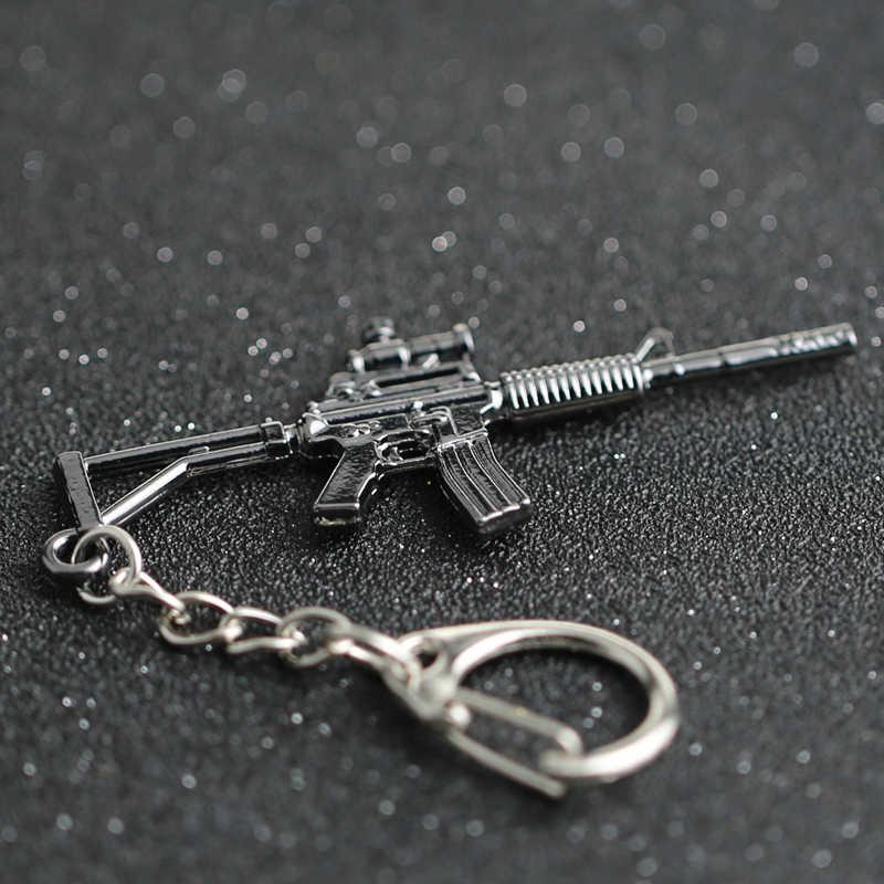 Llavero CS GO CSGO CF M4 M4A1 rifle carabina arma Counter Strike juego Cross Fire llavero con anilla joyería al por mayor