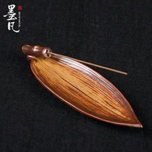 Lotus ceramic incense and joss sticks incense-bedroom sweet tea support fragrant bamboo leaves
