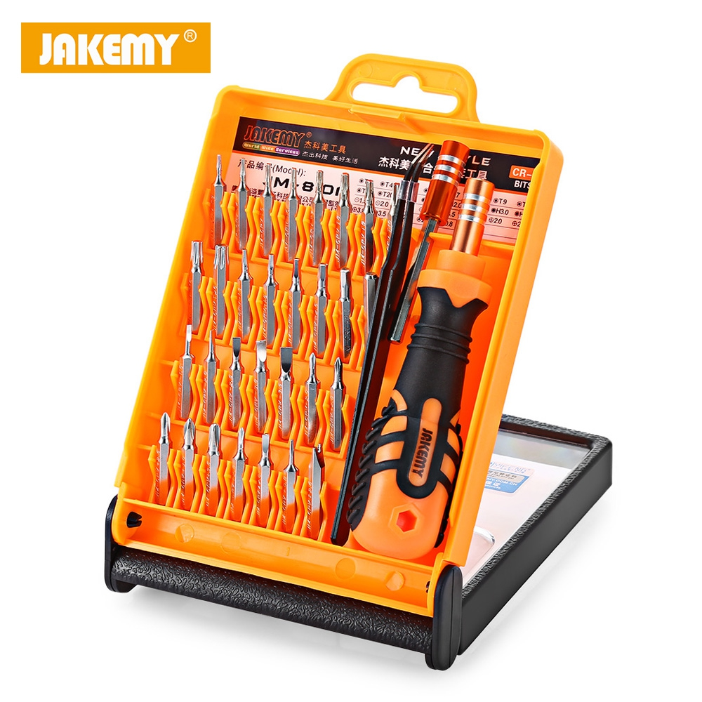 JM-8101 33 in 1 Multifunctional Tornavida Seti Torx Screwdriver Set Kit Telecommunication Tools Maintenance For Repair Phones