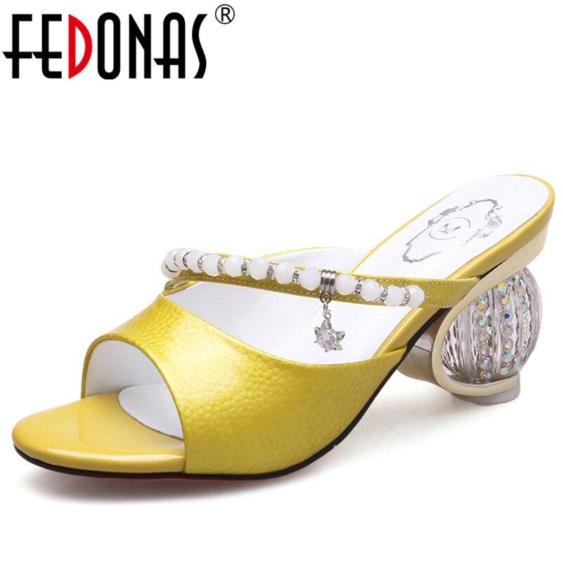 bb768dc5f6 Del Rhinestone Marca Fedonas Zapatos Club Boda Altos Mujer Crytral Tacones  Bombas plata De Sandalias Oro Roma ...