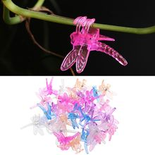 30 шт. зажимы для орхидеи, стрекоза, Орхидея, поддержка для садовых растений, цветов, лозы, поддерживающие зажимы