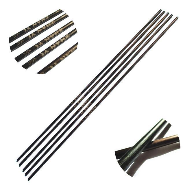 6 Paket Kupfer Genarbtem Bogenschießen Carbonpfeile Wellen Wirbelsäule 400 500 600 mit Zubehör Für Jagd und Schießen 29 31 zoll