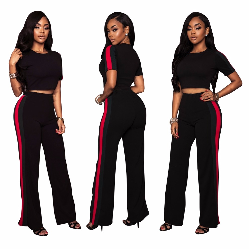 US $19.04 20% OFF|2019 Summer Fashion Women clothes Plus size two piece set  crop top Cropped Tops Pants Fashion suit tracksuit-in Women\'s Sets from ...