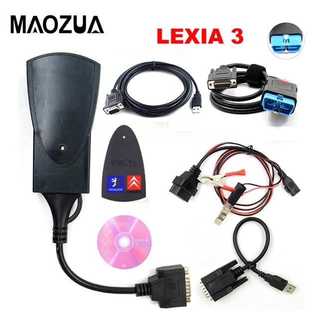 Top Qualität Lexia3 PP2000 für Citroen für Peugeot Diagbox V 7,83 V48 V25 PP2000 mit LED Kabel Modul S.1279 Diagnose werkzeug