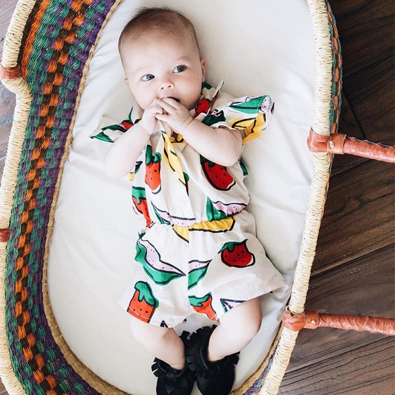 bananan strawberry cotton one-piece dress baby shark clothes summer shorts fruits for girls jumpsuit